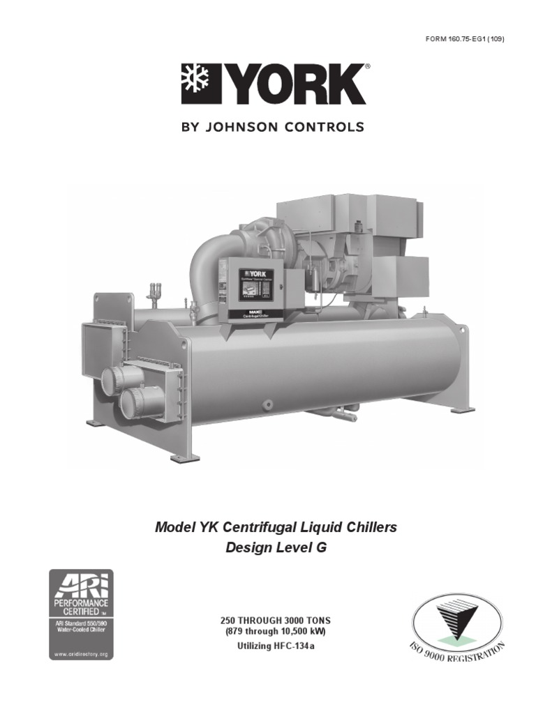 york model yk centrifugal liquid chillers heat exchanger gas rh scribd com York Maxe Centrifugal Chiller Manual York Absorption Chiller Service Manual