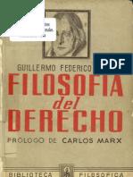 Hegel, Guillermo Federico - Filosofia Del Derecho