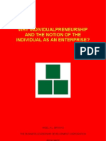 Why Individualpreneurship and The Notion Of The Individual As An Enterprise