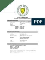 UNVA CSCS 507-1900 Course Syllabus for 2011 Spring