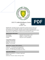 Syllabus CSC571 FA11 Artificial Intelligence