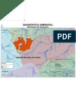 Morro do Elefante - Tijuca - RJ. Mapa de Subbacias