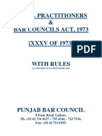 Bar Council Act Amended 2005