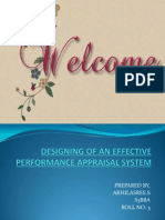 Designing Performance Appraisal