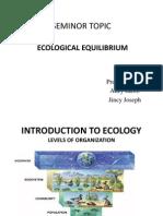 Ecological Equilibrium Seminor