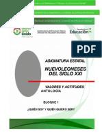 Antologia Bloque 1 NLSXXI,Valores y Actitudes
