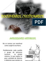 DOCUMENTOS CUESTIONADOS PRESENTACION 1