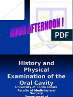 History & PE of Oral Cavity Final
