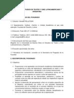 MAESTRÍA EN ESTUDIOS DE TEATRO Y CINE LATINOAMERICANO Y ARGENTINO