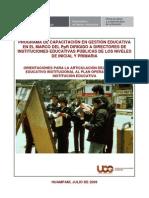 UCG - Separata - Articulacion Del PAT Al PEI