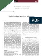 Motherhood and Marriagej.1741-3737.2010.00786.x