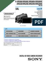Sony Hdr-xr500 Xr500e Xr500v Xr500ve Xr520 Xr520e Xr520v Xr520ve Service Manual Level 2 Ver 1