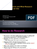 What is Research and What Research Methods