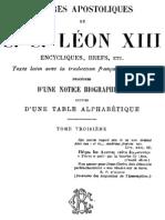 Lettres Apostoliques de S.S.leon XIII - (Tome 3)
