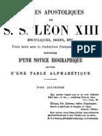 Lettres Apostoliques de S.S.leon XIII - (Tome 4)