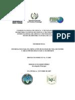 INFORMACION PARA PLANIFICACIÓN DE MANEJO DE VIDA SILVESTRE Y ÁREAS PROTEGIDAS (FASE I)