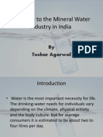 Welcome to the Mineral Water Industry in India