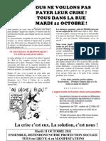 Tract fédéral 11 Octobre