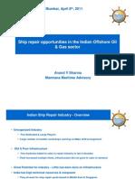 Ship Repair Opportunities in Indian Offshore Industry