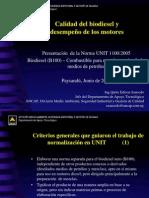 Presentación de La Norma UNIT 1100-2005 - Biodiesel - B100