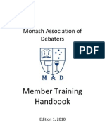 Monash Debaters Handbook