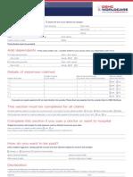 f1 Claim Form