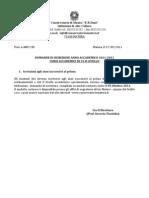 Domande Di Iscrizione Anno Accademico 2011-2012 Corsi Accademici Di i e II Livello11