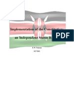 Implementation of the Constitution_An Independent Status Report