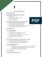 Sample Agenda - In House Training