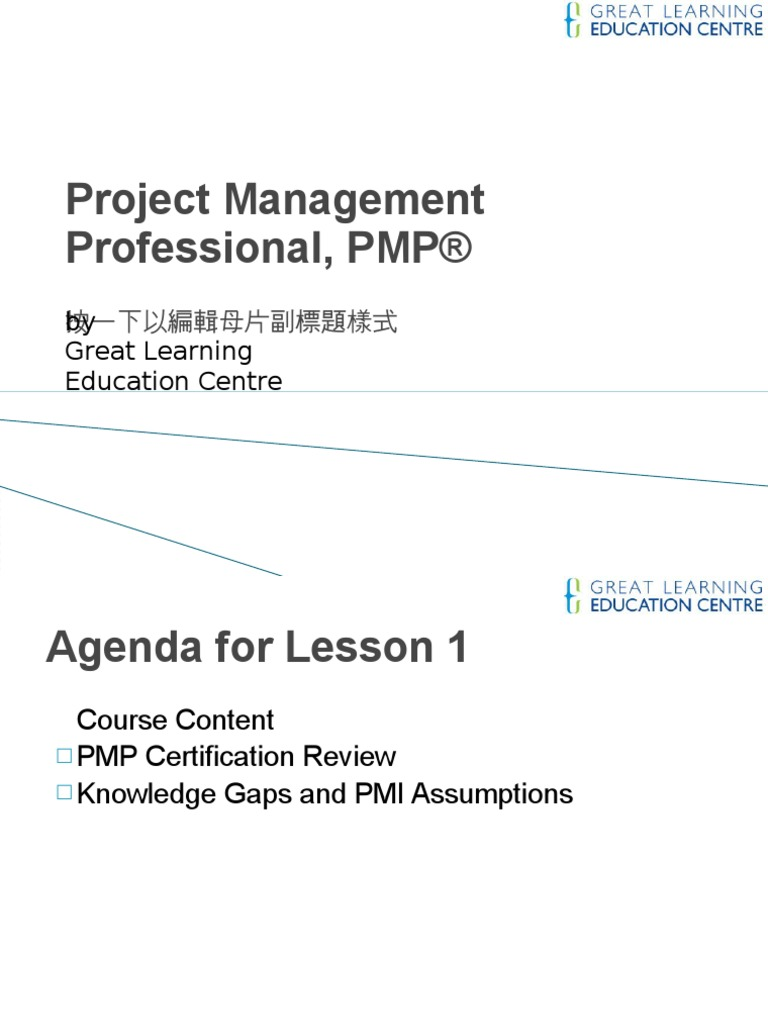 Pmp Lesson1 Cert Review And Pmi Isms Project Management