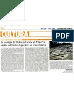 Le vestigia dell'antica Minerva (Castellaneta), Corriere del Giorno, martedì 5 ottobre 2011-Vincenzo Stasolla