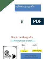 Noção de geografia