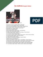 2000 Sabina - 00 - Nos Sobran Los Motivos - Letras