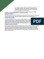 The Strategic Management Process Represents a Logical