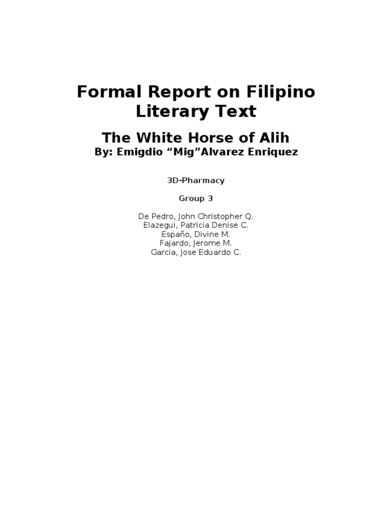 the white horse of alih summary