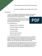 Document Creation