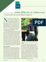 Reducing Violent Behavior in Adolescents.17