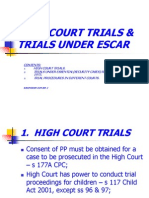 High Court Trials & Trials Under Escar