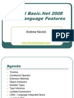 Visual Basic.net 2008 New Langage Features Andrew Novick