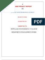 Final Gp on Fmcg for Print. Hari Mba