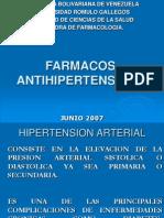FARMACOS ANTIHIPERTENSIVOS.