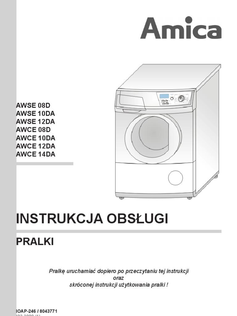 [Instrukcja obsługi] Pralka Amica (IOAP 246) -> Kuchenka Elektryczna Amica Electronic Instrukcja