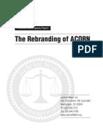 Judicial Watch - The Rebranding of ACORNAcorn - 08222011