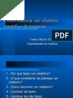 Elaboração Relatorio Cientifico Instrumentação Biomedica