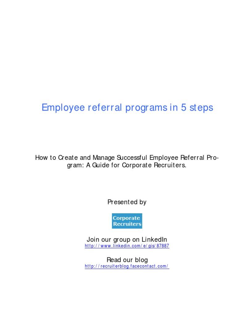 sample referral cover letter for resume - Employee Referral Cover Letter