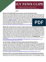 Thurs., Oct. 6 News Summary
