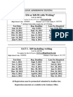 SAT and ACT Testing Flyer 11-12