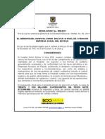 Resolucion de Apertura 358 de 2011 SPO-05-2011