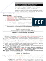 Modelo de Estatuto para Centros Acadêmicos