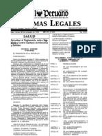 Decreto Supremo 007-98-SA to Vigil an CIA y Control Sanitario Alimentos